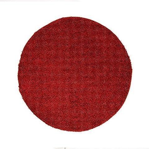 Uni Hochflor Shaggy Teppich Einfarbig Rot Neu Öko Tex 120x120