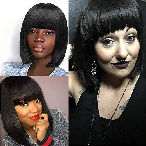 Rifuli® perrücke frauen Europa und die Vereinigten Staaten Perücken Weibliche graue Mode kurzes Haar afrikanisches Haar Kurze Haarperücke Styling Perücken ()