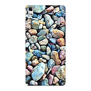 Water Pebbels Multicolor Back Case Cover for Lenovo A7000