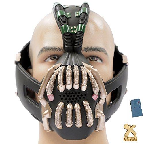Halloween Maske mit Voice Changer Cosplay Kostüm Herren Halloween Verrücktes Kleid Latex Helm Replik für Party (Voice Halloween Changer)