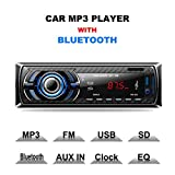 Provide The Best 523 Bluetooth Car Radio Stereo Audio MP3 Player FM in-Dash 1 DIN Ricevitore USB AUX SD 12 V Car Radio Player