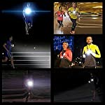 Running Light Lamp, USB Rechargeable LED Body Torch, Bright Waterproof Comfortable High Visibility Flashlight with Taillight for Night Runners Jogging Dog Walking Camping Reading DIY Kids