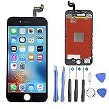 iPhone 6s LCD Display, Ashleyoo iPhone 6s Display Touchscreen Bildschirm Komplettset mit Werkzeuge - Reparaturset Bildschirm Glas Touchscreen Netzhaut Werkzeugset inklusiv, Qualität wie das Original (Schwarz)