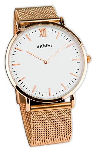 Baciami Skmei Reloj de Pulsera con Esfera de Oro...