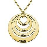 Ihr Persönlicher Schmuck 75oer Vergoldete Personalisierte 4 Ring Halskette