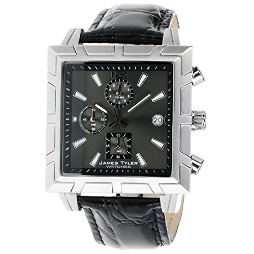 James Tyler Herren-Armbanduhr, Quarz Chronograph, Quadratisch Edelstahl gebürstet JT710-1