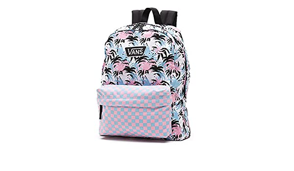 28df3f7f7c Vans Realm Backpack VN-0YEVEE9 White Pink Black Powder Blue Back Pack Book  Bag  Amazon.co.uk  Luggage