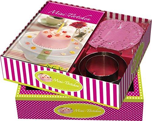 Buch-Box Mini-Törtchen: Rezeptbuch + 2 Kuchenringen & rosa Tortenspitzen (Klasse 2 Basteln Halloween Für)