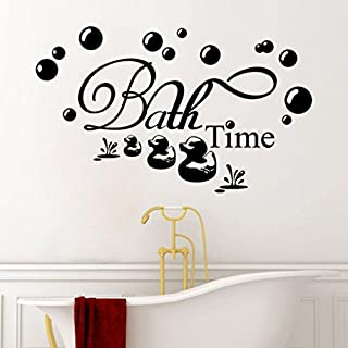 SMILEQ Funny Quote Wall Stickers Bath Time Removable Art Vinyl Mural Home Room Decor Decal (A)