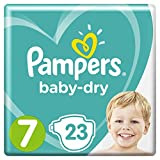 Pampers Baby Dry taille 7, pour respirants Sécheresse, 23 pièces