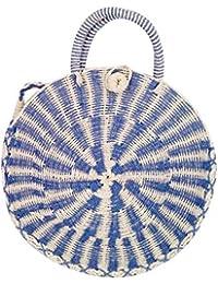 LONGTA - Bolso bandolera de paja para mujer (crochet, bolso de verano, bolsa