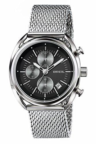 Breil Herren-Armbanduhr Analog Quarz One Size, anthrazit, silber