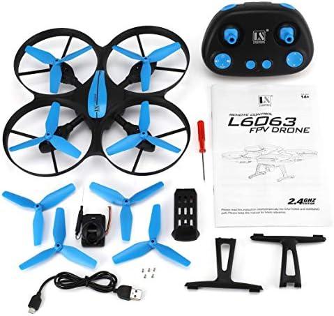 Delicacydex Delicacydex Delicacydex L6063 4CH RC Drone Quadcopter Altitude Hold avec 720p caméra sans tête Mode Une clé de Retour Vitesse réglable Anti-carsh RTF 3ba6c1