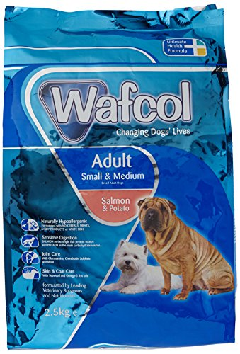 Wafcol Adult Sensitive Dog Food – Salmon & Potato – Grain Free Dog Food for Small and Medium Breeds – 2.5 kg Pack