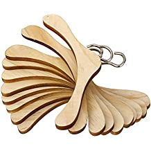 UEETEK 10pcs percha madera muñeca accesorio para muñecas de molde de 1/3 BJD