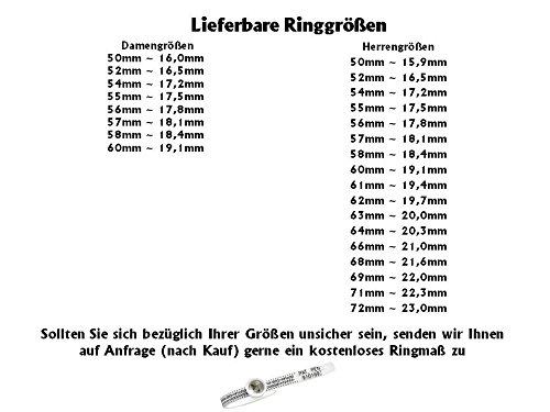 Eheringe Verlobungsringe Trauringe Titanringe mit Zirkonia und Ihrer persönlichen Lasergravur H116