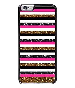 PrintVisa Designer Back Case Cover for Apple iPhone 6 Plus :: Apple iPhone 6+ (Lines Bars Horizontal Parallel Spots)