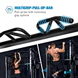 Capital Sports Pro Amaze Smith Machine • Powerrack • Multipresse • 2 Safety-Spotter • 16-Fach höhenverstellbar • Robustes Stahlrohr • inkl. Klimmzugstange • ca. 184 x 210 x 170 cm (BxHxT) • schwarz - 7