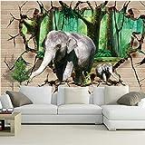 fototapete 3d effekt wand dekoration vlies Fototapete Design Tapete moderne wanddeko bilder Wandbilder wohnzimmer 200x140cm zwei Elefanten