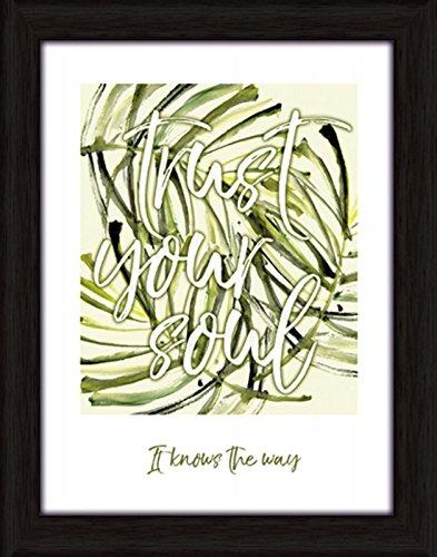 Artland Wand-Bild Poster Kunstdruck mit Rahmen Jule Vertraue deiner Seele Statement Bilder Sprüche & Texte Digitale Kunst Grün C7LH