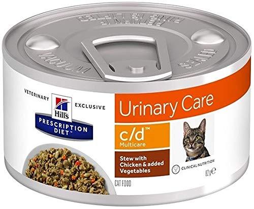 HILL'S PRESCRIPTION DIET Feline C/d Urinary Care Spezzatino con Pollo E Verdure per Gatti da 82 Gr
