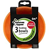 Tommee Tippee 3  Feeding Bowls Essential Basics 6m+(Color May Vary)