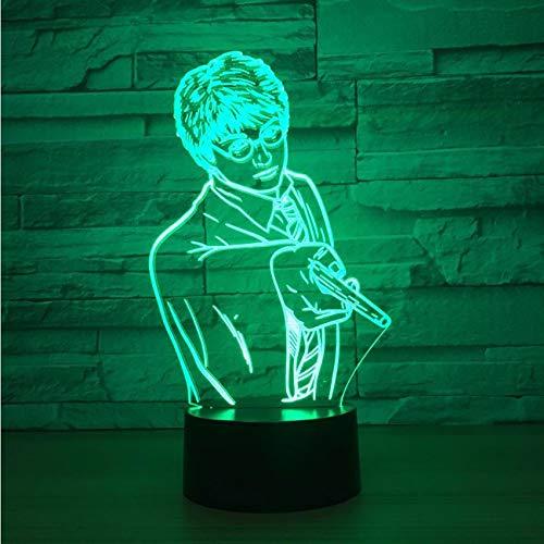 ganjue Kreative USB 7 Farben Ändern 3D Vision Männliche Lehrer Modellierung Schreibtischlampe Led Klassenzimmer Atmosphäre Dekor Baby Schlaf Nachtlicht
