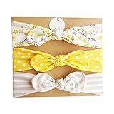 LQZ 3CS / Set Multicolor Baby Girl Soft Headband with Bowtie Flower Princess Hairband (B)