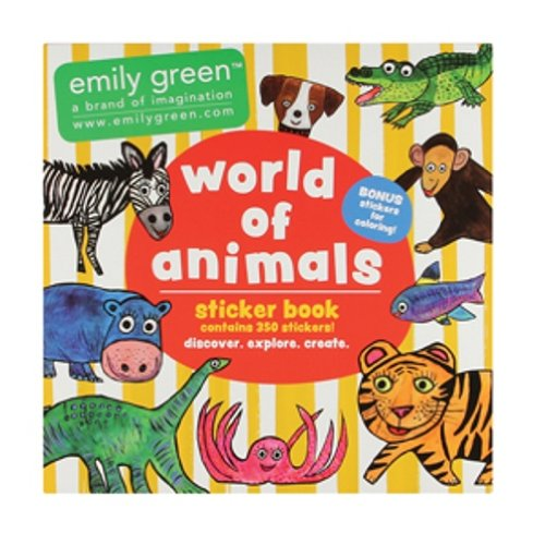 C.R. Gibson Emily Green Stickers, World of Animals
