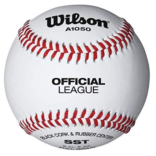 Wilson 1050B Offizielles Liga Praxis Baseball weiß -