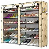 Sterling Shoe Racks for Home, Shoe Rack with Cover 12 Layer Multipurpose Shoes Stand for Shoe Storage Organizer Double Shoe R