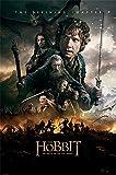 The Hobbit - BOTFA - One Sheet - Schlacht der 5 Heere Plakat Poster Druck - Größe 61x91,5 cm + 2 St Posterleisten Holz 61 cm