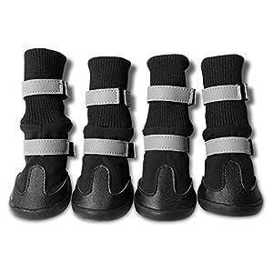 Bottes de Chien Animaux de Compagnie Réfléchissant Imperméable à l'Eau Bottes de Neige Chaussures pour Moyen/Grand Chien