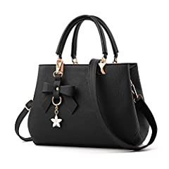 Idea Regalo - URAQT Borsa a Mano Donna, Borse a Spalla Donna in PU Pelle, Borse Tote Donna per Shopping, Partito, Casual & Work - Nero