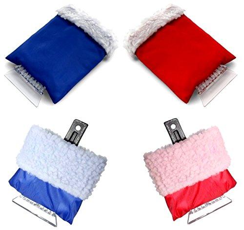 Preisvergleich Produktbild 3 Stück Eiskratzer mit Handschuh 23 x 16 cm Fell Eisschaber Schneekratzer Auto-Eiskratzer Eis-Kratzer-Schaber STAR-LINE®