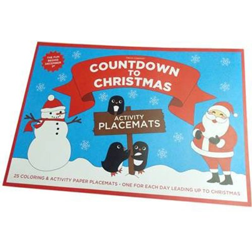 25 Piece Colour In Placemats Book ~ Christmas Activity Colouring Place Mats