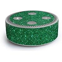 atFoliX Amazn Echó Dot (2. Generation) Skin FX-Glitter-Green-Mile Designfolie Sticker - Reflektierende Glitzerfolie