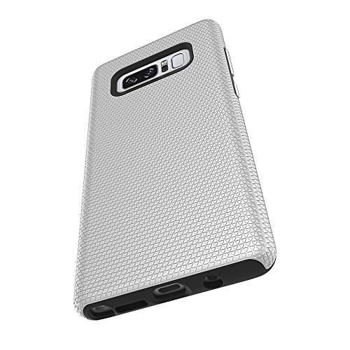 Dual Layer Double Protection PC + TPU Drop Resistant Shockproof Hybrid Armor Shell Cover Case für Samsung Galaxy Hinweis 8 ( Color : Rose ) Silver