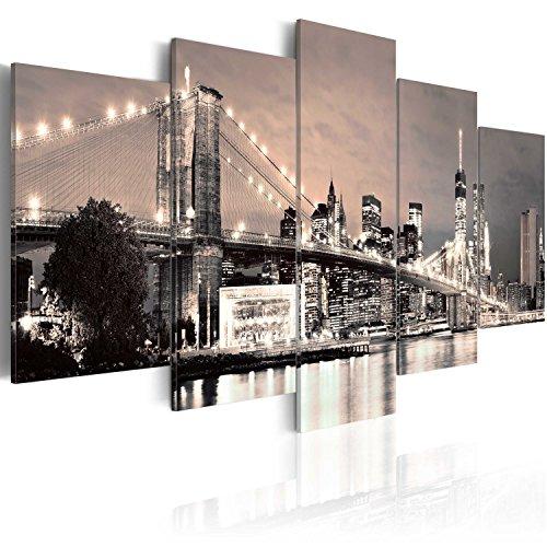 Bd xxl murando - quadro 200x100 cm - 5 parti - quadro su tela fliselina - stampa in qualita fotografica - new york 030202-11