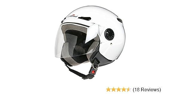 Gr/ö/ße 55-56 S Scotland Helm Motorrad//Scooter mit einer Langen Visier Schwarz Matt