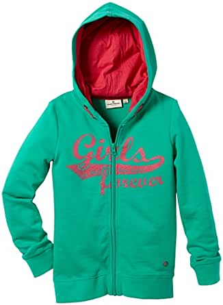 TOM TAILOR Kids sweatjacket girls forever/312 Pull  Fille - Vert - minty green - FR : 14 ans (Taille fabricant : 164)