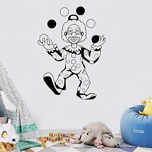 Geiqianjiumai Wandaufkleber zirkusclown Schlafzimmer wandaufkleber Vinyl Aufkleber Dekoration Party Dekoration kinderzimmer Kunst wandaufkleber schwarz 57X78 cm