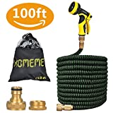 Garden Hose, Homeme 100 Feet Newest Expandable Strongest Magic Hose Pipe with Solid