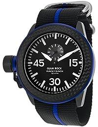 Glam Rock Herren Racetrack 46mm multicolor Nylon Band IP Stahl Fall Schweizer Quarz Schwarz Zifferblatt Armbanduhr grt29008F