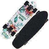 Breay1986 Mini Cruiser Skateboard Up Roues   Planche de Skate en Plastique rétro...