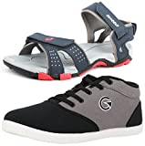 #3: Lotto Mens's Combo Of Sandal & Globalite Casual Shoes GT7144_461P