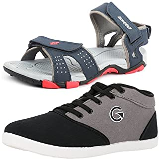 d320518b69f1d8 Lotto Mens s Combo Of Sandal   Globalite Casual Shoes GT7144 461P