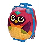 Oops Valigia per bambini, 3d Moulded 2-in-1 Character Trolley and Backpack In Vibrant Owl Design, Multicolore - Multicolore, 31003.12_Multi coloured_40