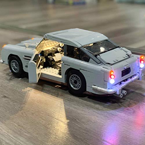 Haunen Licht-Set für Baustein Spielzeug, LED Licht Beleuchtung Kit für Deine Lego 10262 James Bond Aston Martin DB5 - Modell Nicht Enthalten -