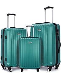 1d8010361 Fochier Luggage Set Lightweight Hard Shell Spinner Suitcase 3 Piece (20
